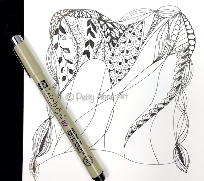 Zentangle ink sketch 1