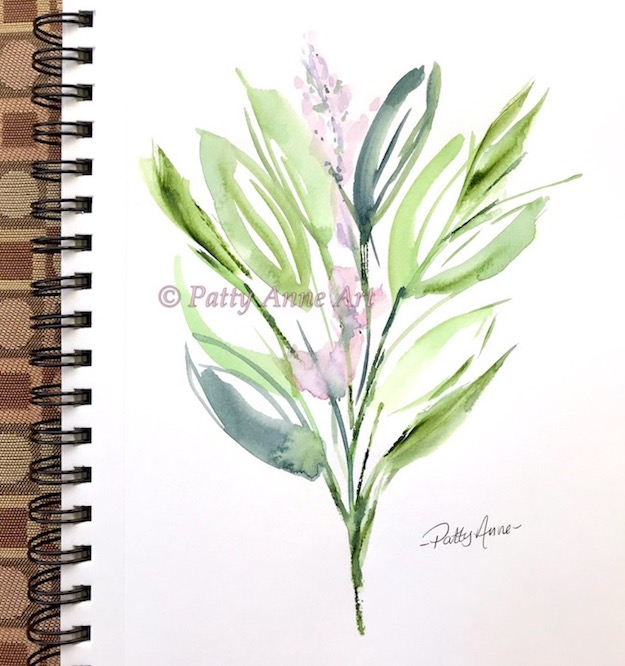 happy floral bunch watercolor painting