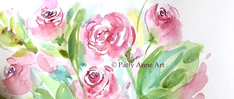 Quiet Thursday – Watercolor Roses