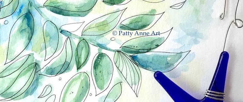 Botanical watercolor andink