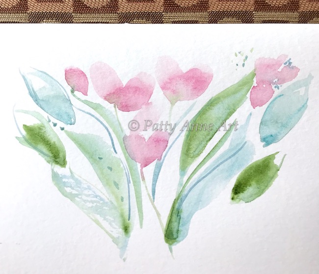 watercolor under painting