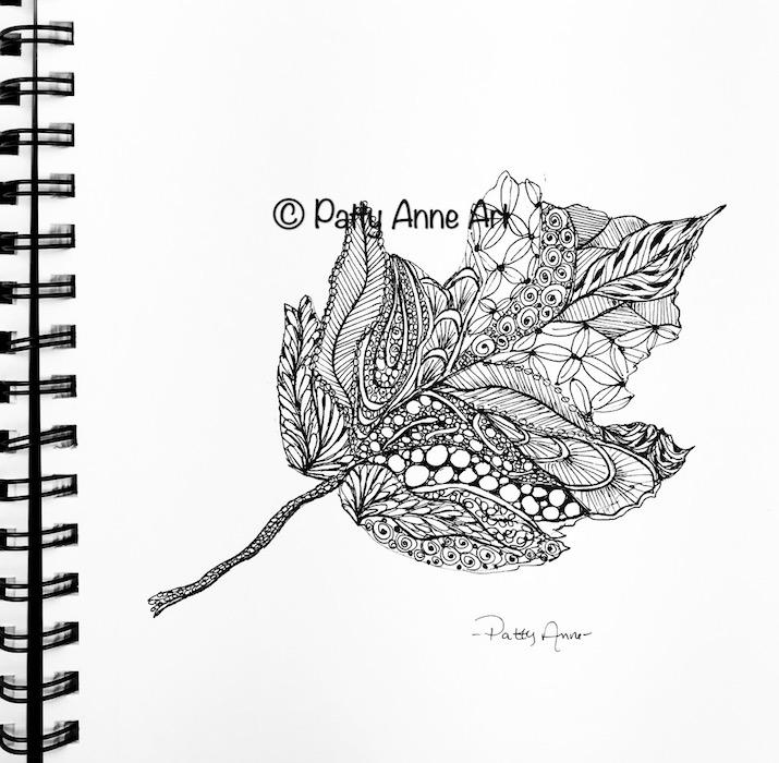 leaf doodle sketch