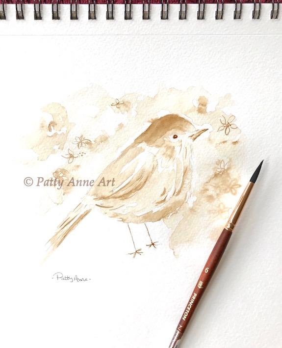 Coffee Birdie painting
