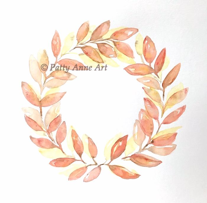 watercolor fall wreath