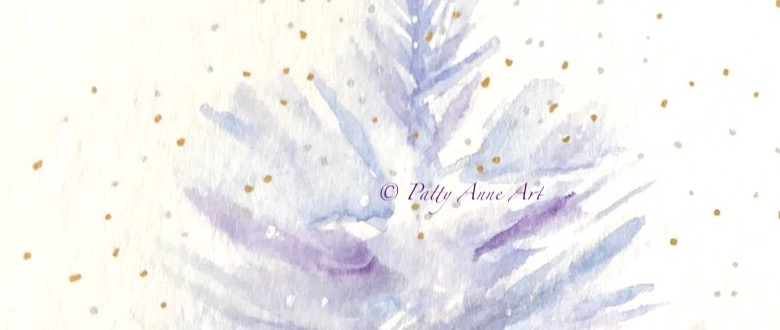 Sparkle Tree watercolor