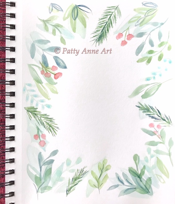 holiday watercolor background