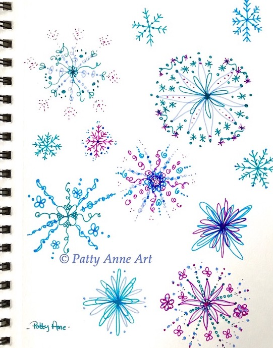 snowflakes using markers