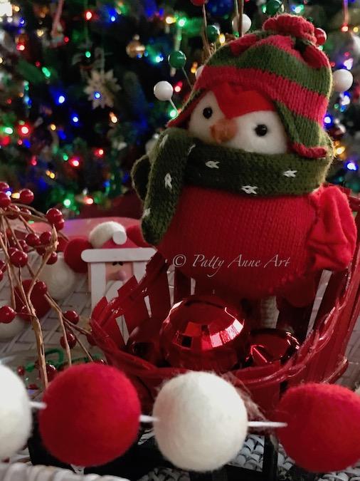 sweet little christmas birdie