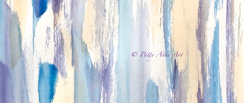 An abstract watercolor painting