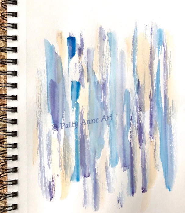 Peace and Joy abstract watercolor painting