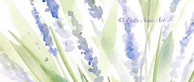 Quiet Sunday – Lavender watercolor