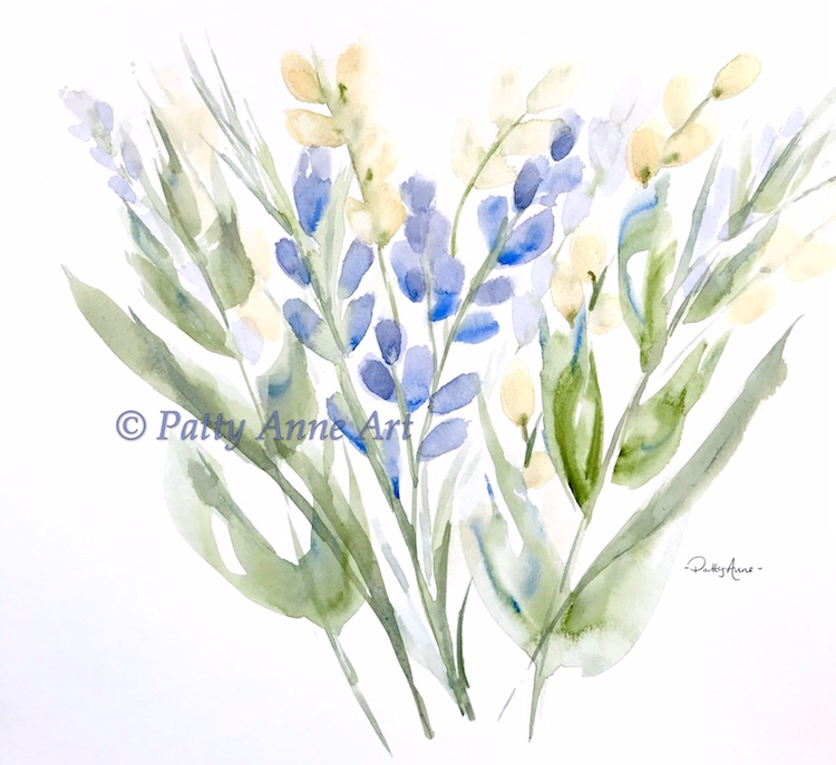 spring bouquet watercolor