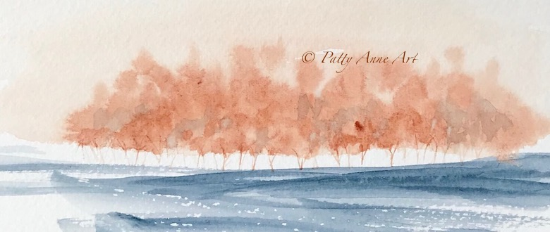 Inspired watercolor landscapes
