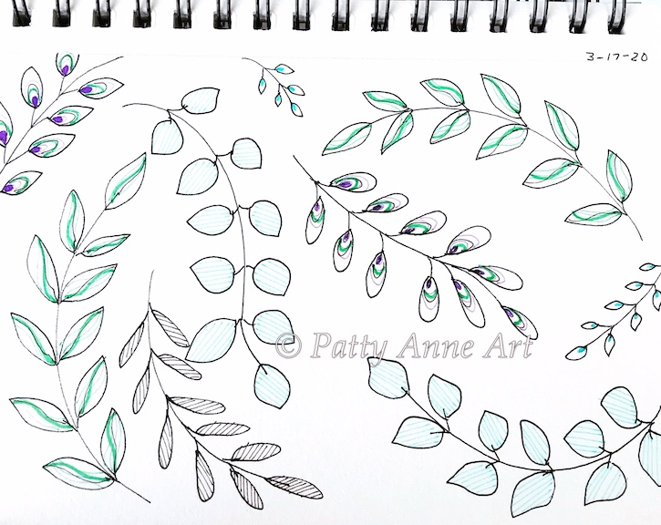 leaves and vines pattern
