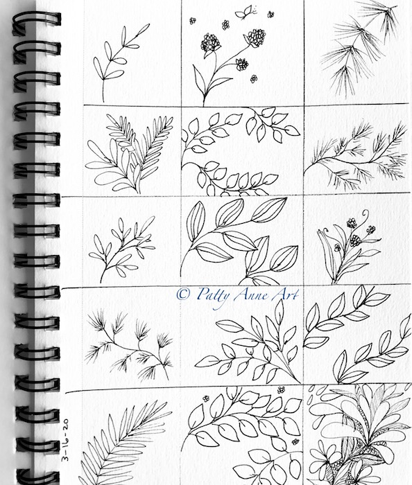 Mini nature ink sketches