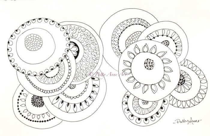 round patterns ink sketch