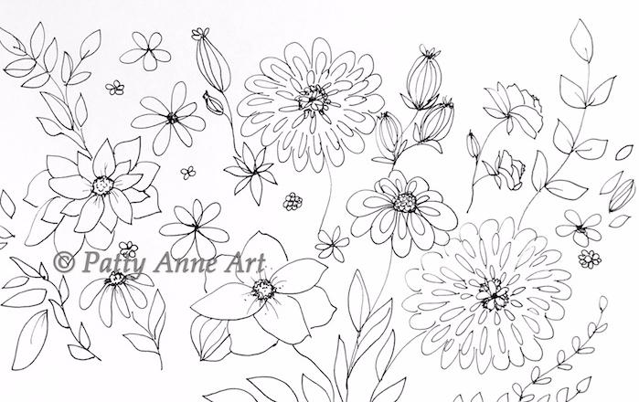 garden ink sketch