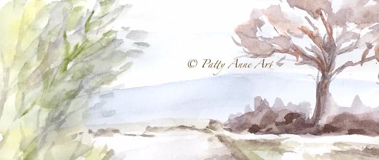 Watercolor Landscape practicecontinues
