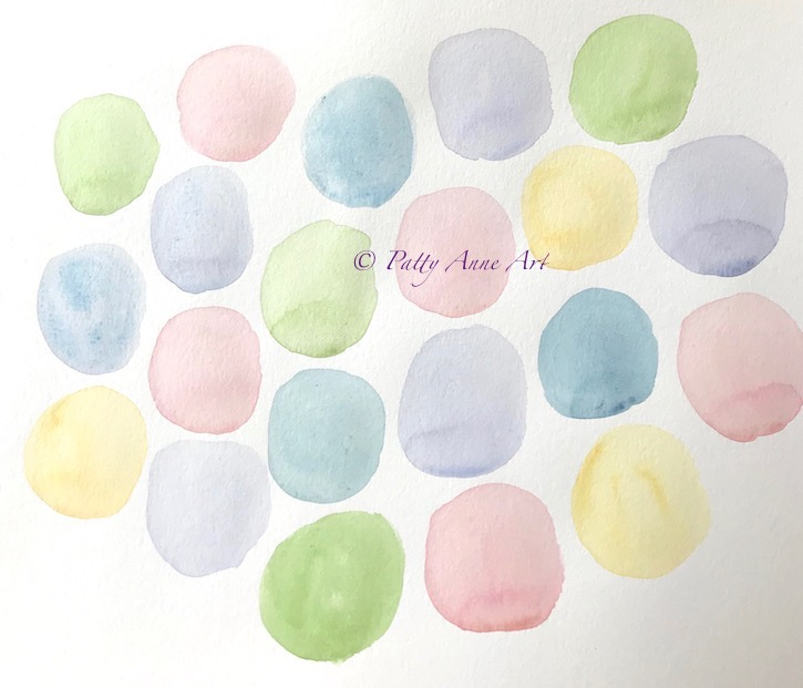 first layer watercolor circles