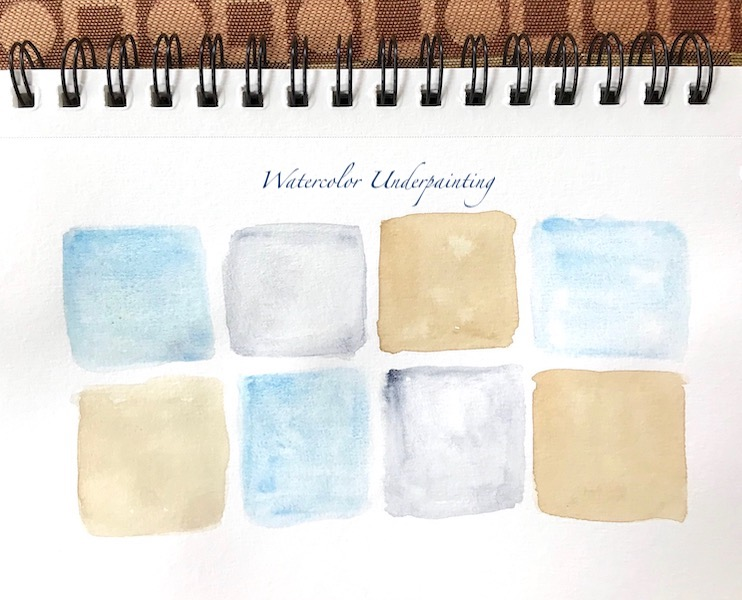 watercolor tiny squares