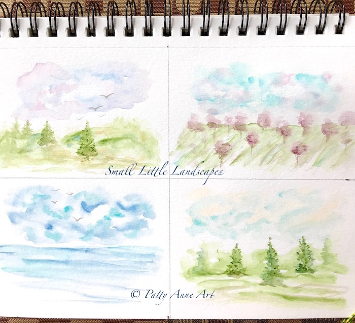 Mini test landscape paintings