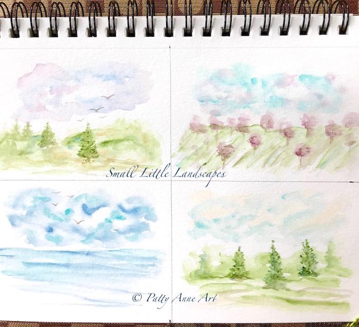 Mini test landscape paintings