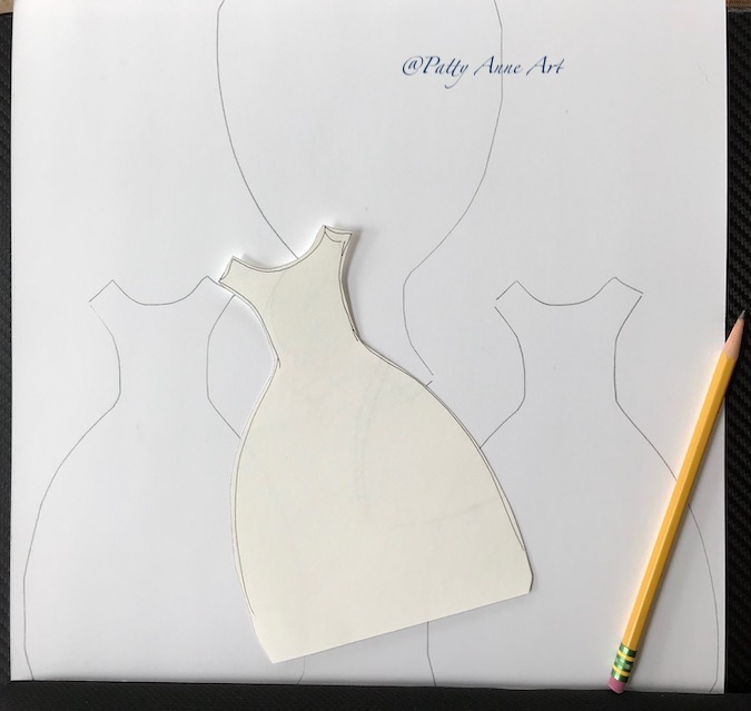 template of dresses
