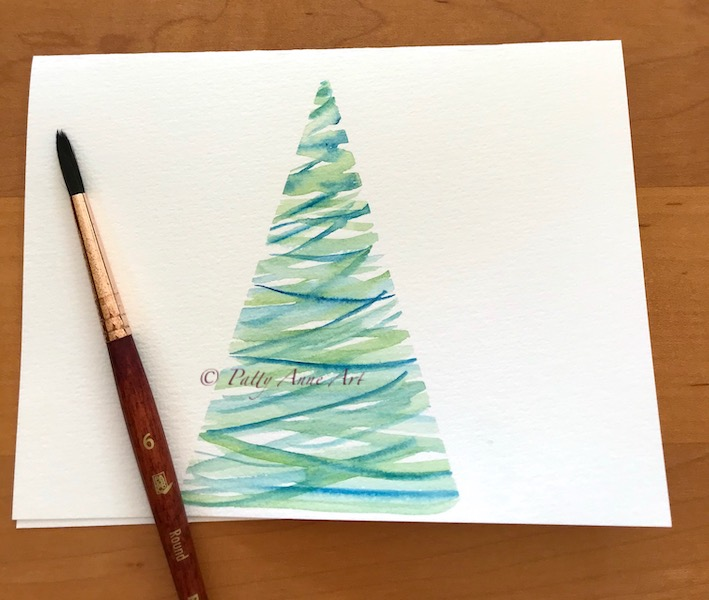 First watercolor tree sample