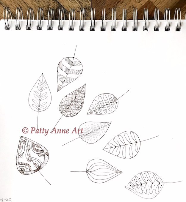 Simple leaves with fun patterns