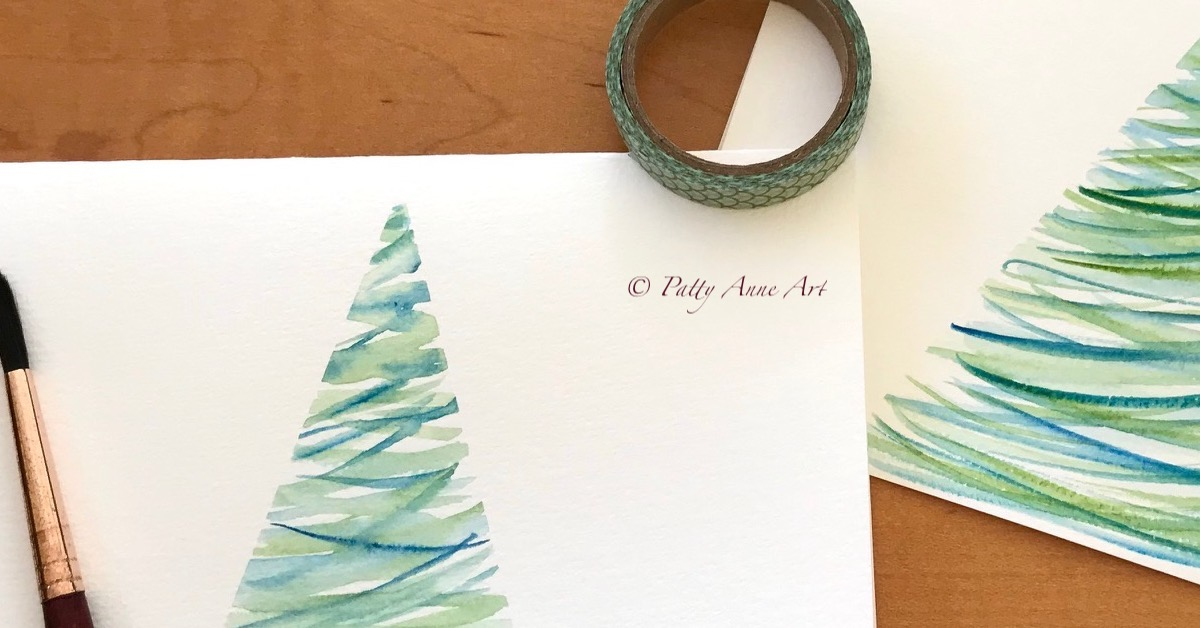 Painting Cards for Christmas