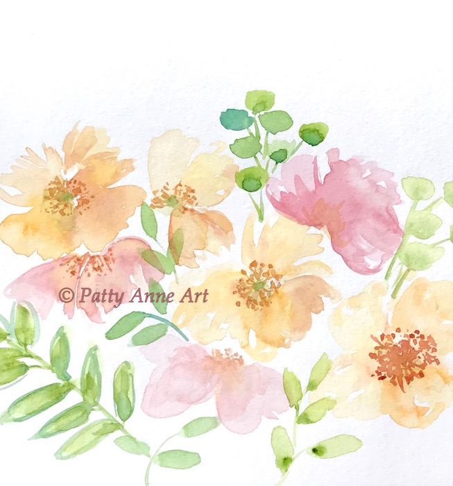 watercolor floral base painting