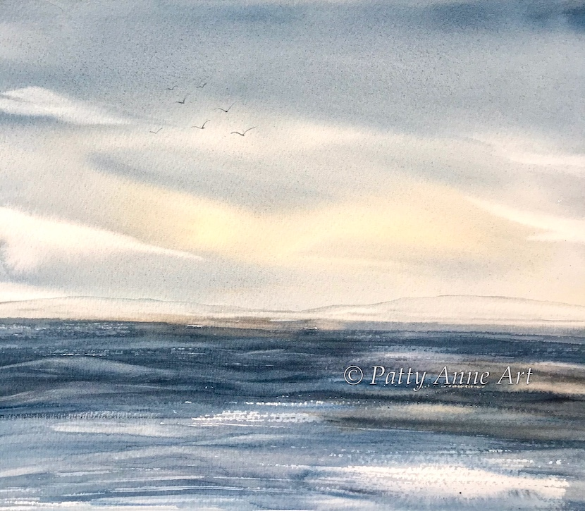dreamy sky watercolor
