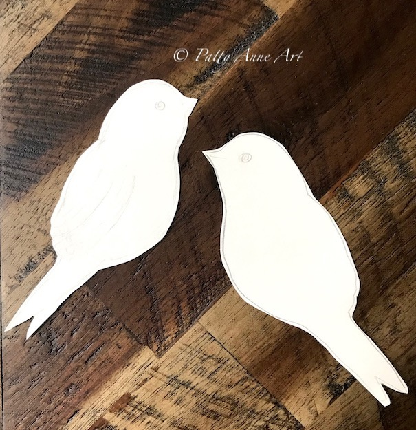 bird shape templates