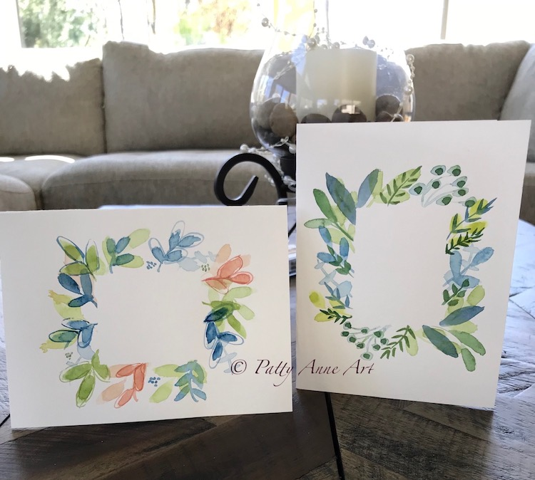 painted watercolor cards