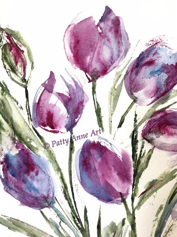 tulips - bold watercolor