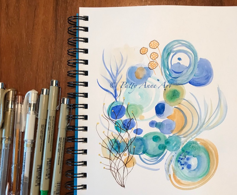 undersea watercolor beginnings
