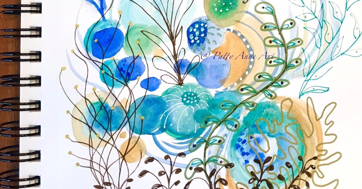 Undersea painting –  watercolor andink