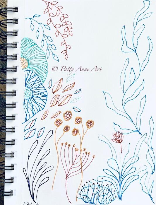 undersea ink sketching
