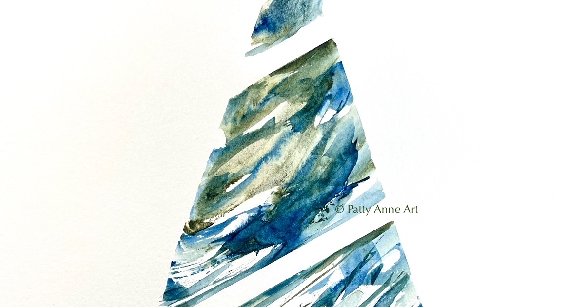 Block painting a watercolortree