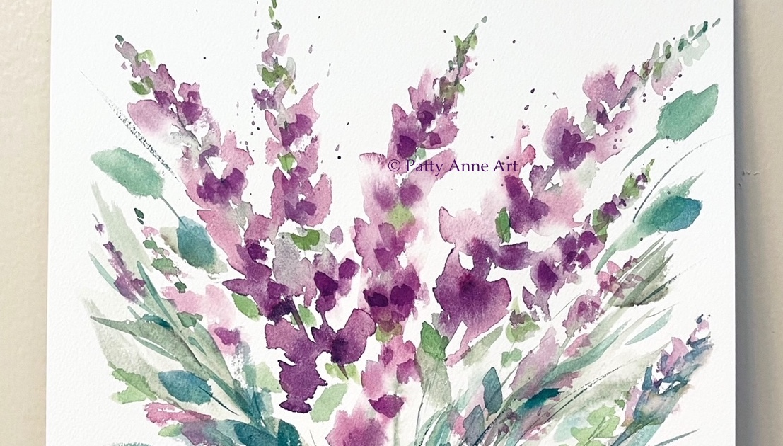 Pretty Purple floral watercolor