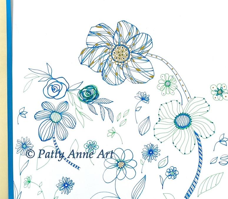 Inktober 2021 - Floral play sketch