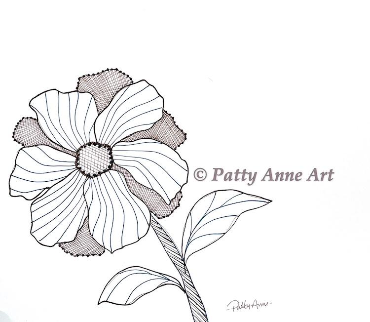 Inktober 2021 - Flower sketch