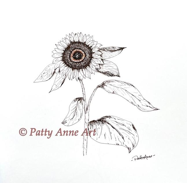 Inktober 2021 - Sunflower sketch